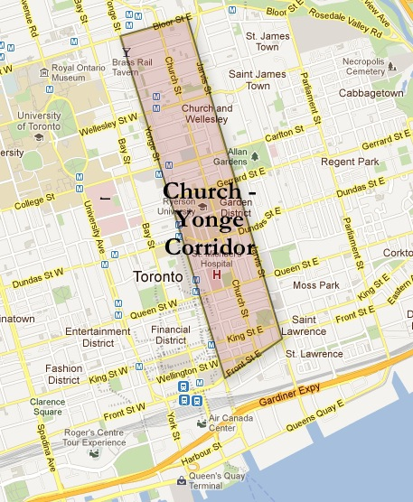 Downtown Toronto Church-Yonge Corridor Map