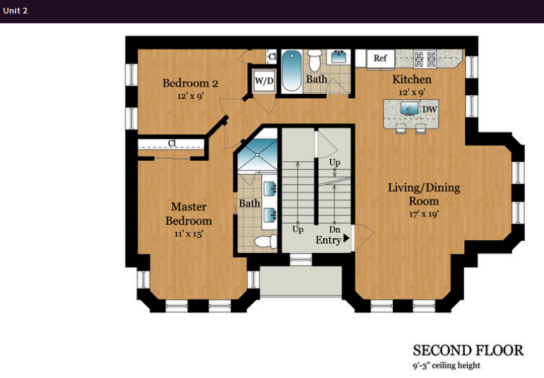 1801 13th St NW DC Unit 2 layout