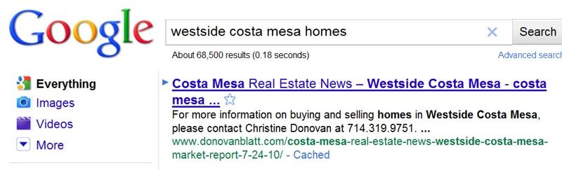 Westside Costa Mesa Google Results