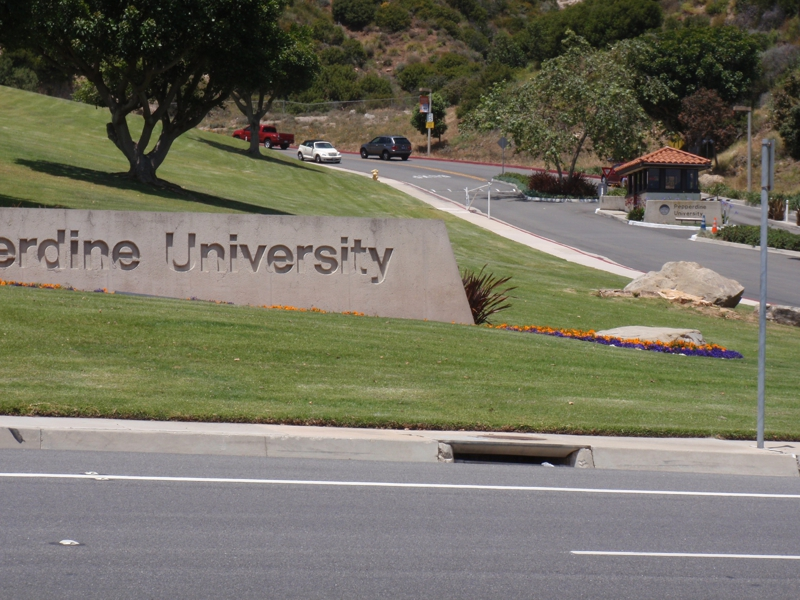 Pepperdine University on Malibu Canyon side