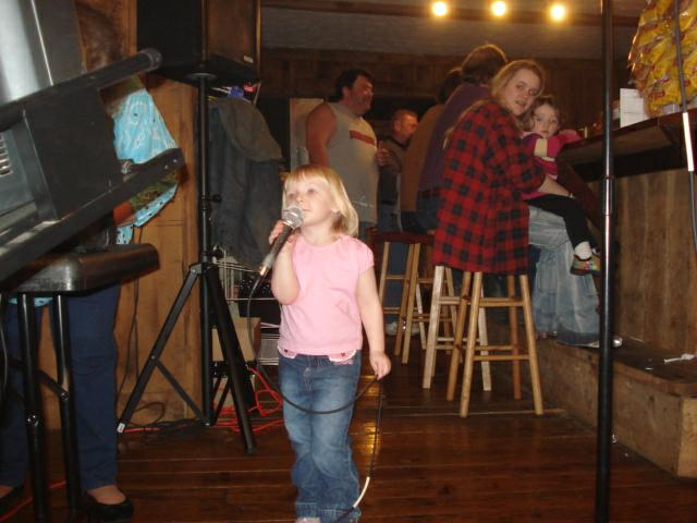 Karaoke crowd at Cedar Post Restaurant, Georgetown, KY