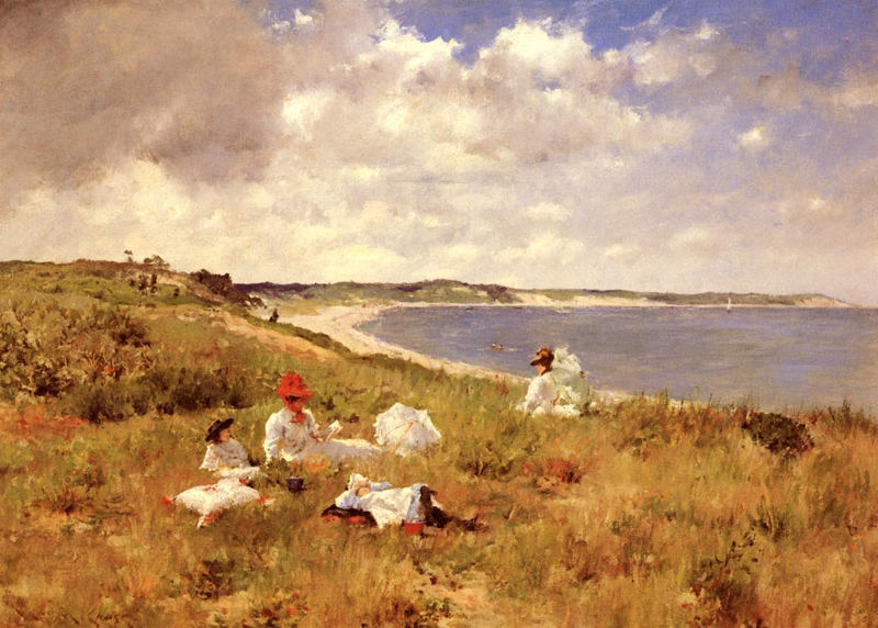 WILLIAM MERIT CHASE PAINTED THE HAMPTONS