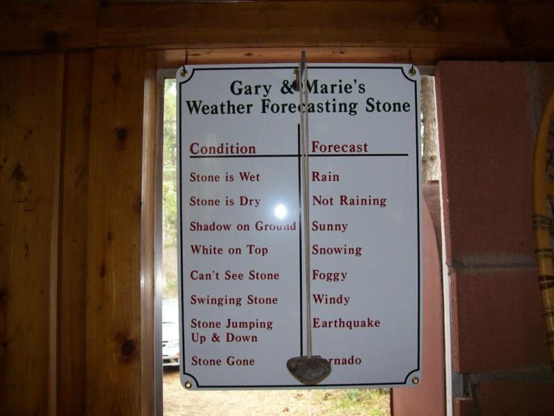 Ponderosa Pines Inn Weather Forecasting Rock