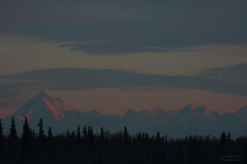 Alaska Range - Sunset just beginning