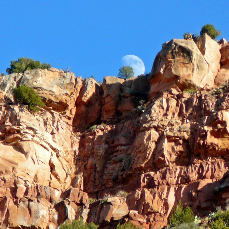 Moonrise in Northern Arizona's Verde Valley