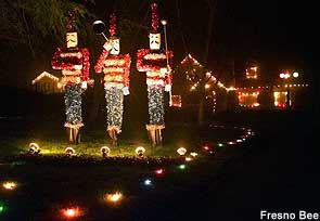 Christmas Tree Lane, Fresno, Ca.