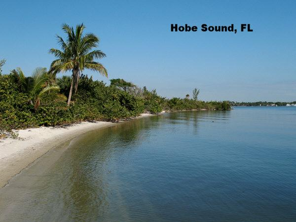 Hobe Sound in Martin County, Florida