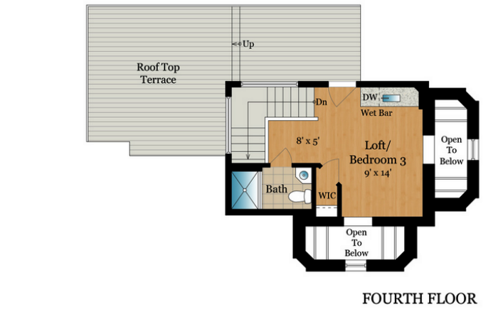 1801 13th St NW DC PH Unit 4th floor layout