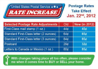 Postage Rate Increase