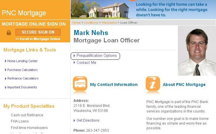 PNC Mortgage, Mark Nehs, Prequalification