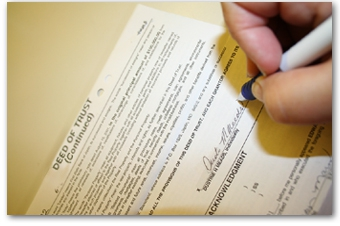 Signing the purchase agreement