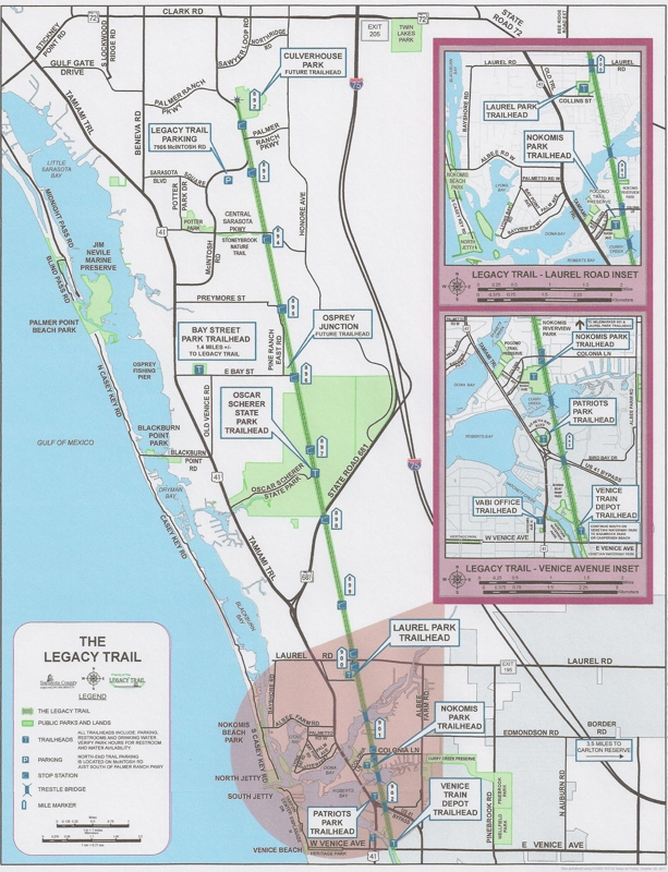 Rails To Trails Florida Map.Rail To Trail The Legacy Trail Venice Fl