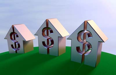 homes with dollar signs