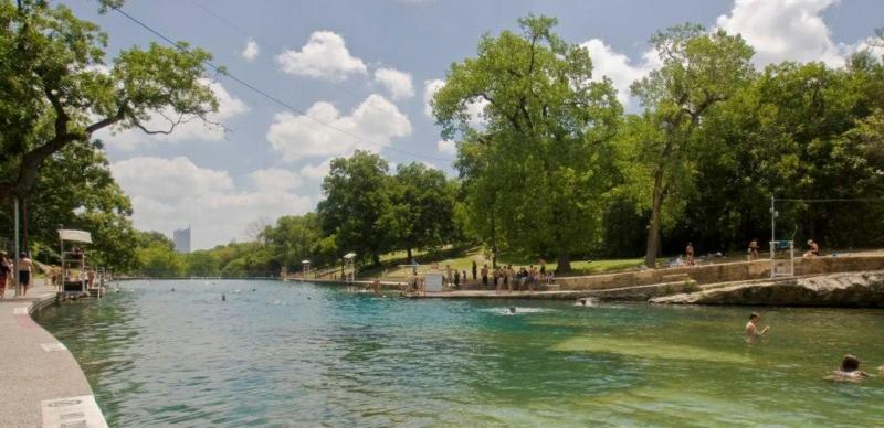 Barton Springs Pool has been a popular attraction for years since it became