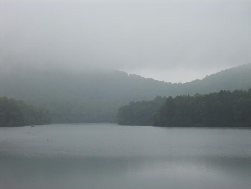 Lake Petit in the mist