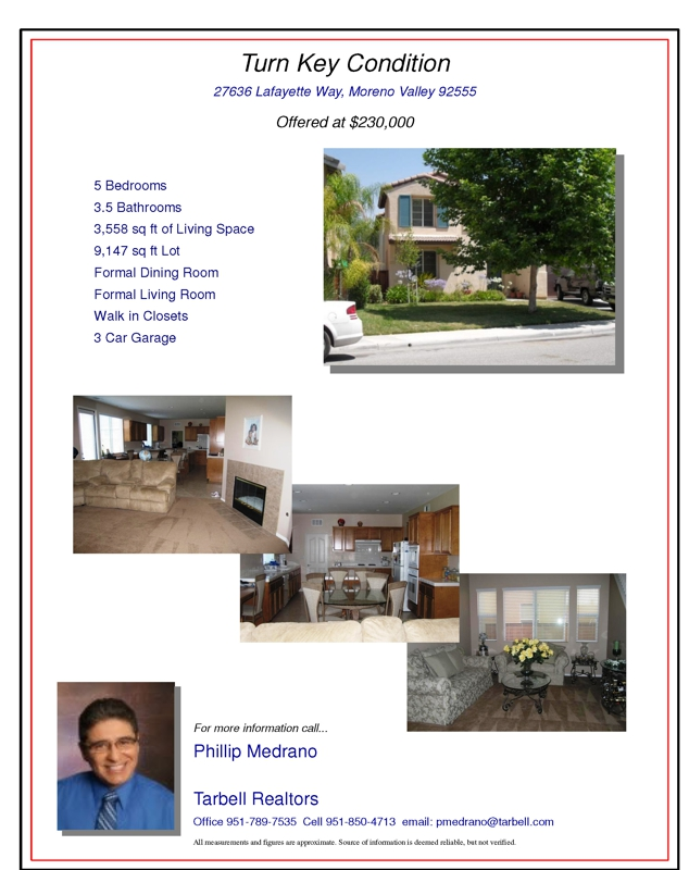 Open House Moreno Valley