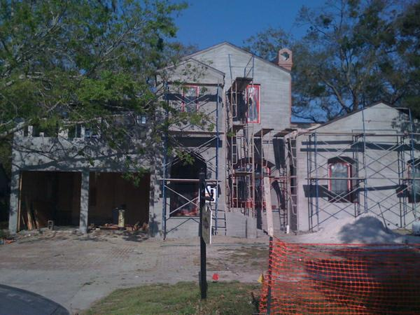 New Construction in infill area