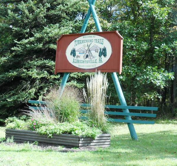 Entry sign of Towamensing trails