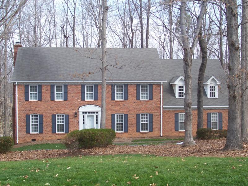 brick colonial homes