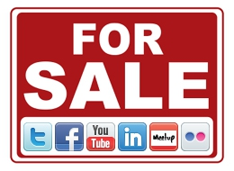 Social Media For Sale Sign