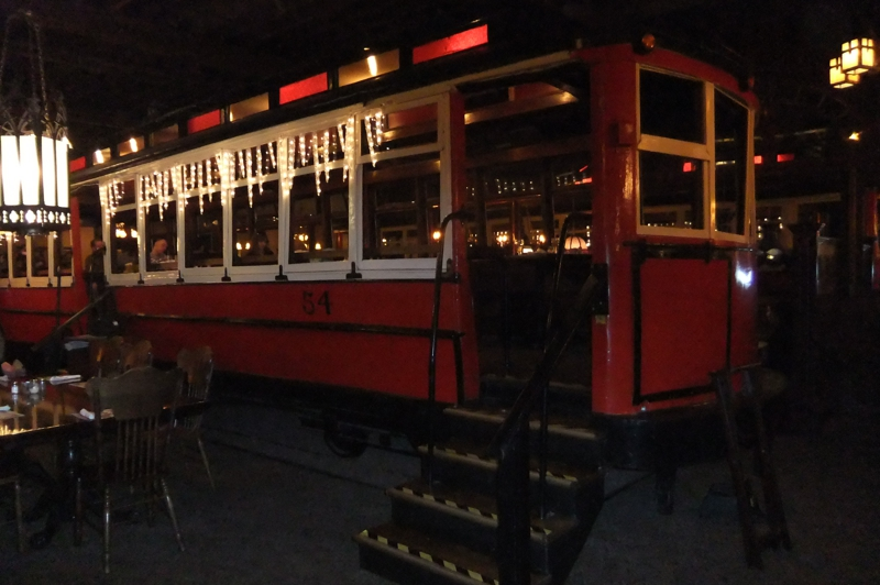 Old Spaghetti factory red train