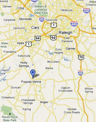 Ransdell Road New Homes Lots for Sale Fuquay Varina Map