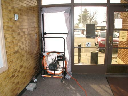 Blower Door Testing at Willard City Hall