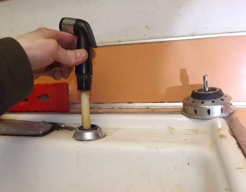 Your kitchen sink spray-wand may be leaking even if you never use it.