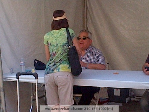 Eric Van Lustbader signing his books @festival of books
