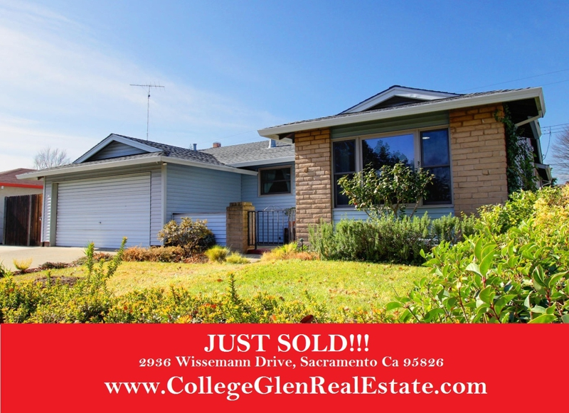 Just SOLD - 2936 Wissemann Drive, Sacramento Ca 95826 - www.CollegeGlenRealEstate.com - Doug Reynolds Real Estate