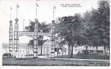 lake orion amusement park early 20th century