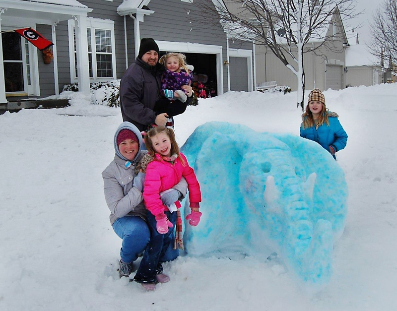 Kansas City Realtor Snow Sculpture for day off of Real Estate