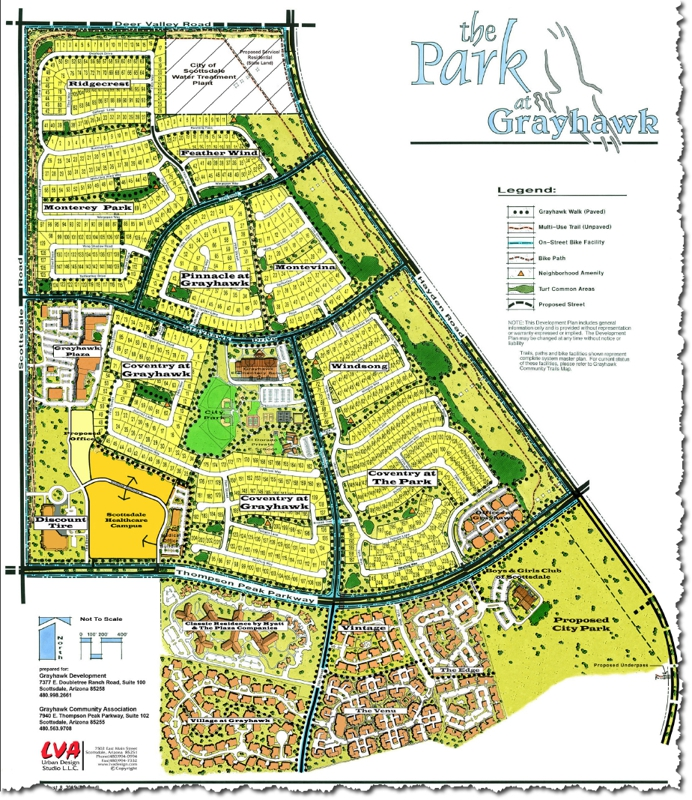 Grayhawk of Scottsdale Arizona The Park Map