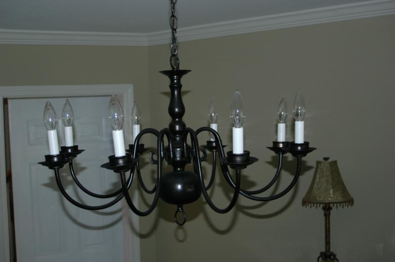 painted light fixture