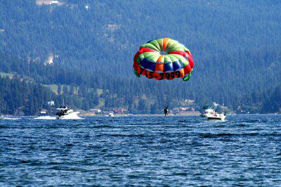 Parasailing on Lake Coeur d'Alene