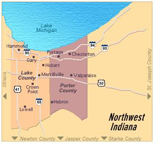 Northwest Chicago Map.Map Of Northwest Indiana Easy Chicago Commute