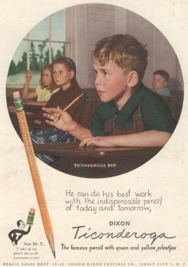 Pencil advertisement from 1947: Mike in Tucson, AZ mortgage lender