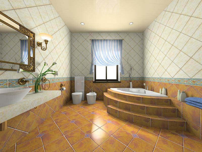 Modern bathroom with bidet
