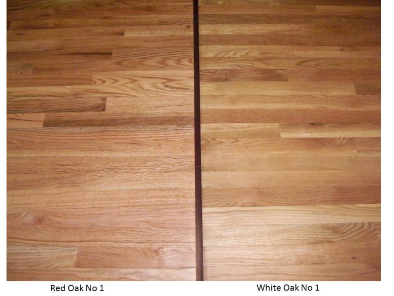 Red oak vs White oak hardwood flooring - No 1 grade