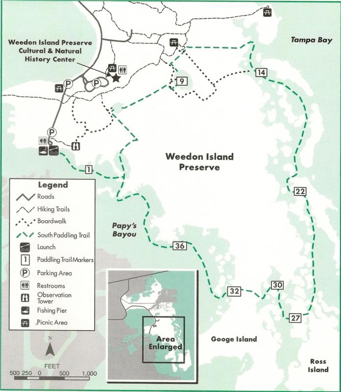 Map Weedon Island