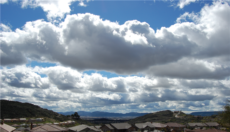 Last night's storm brought lots of rain and wind to Murrieta CA. Things are calmer today as big, puffy clouds drift low across the Murrieta - Temecula Valley landscape.  Murrieta and its sister city Temecula are wonderful communities to work and play, to live and relax.