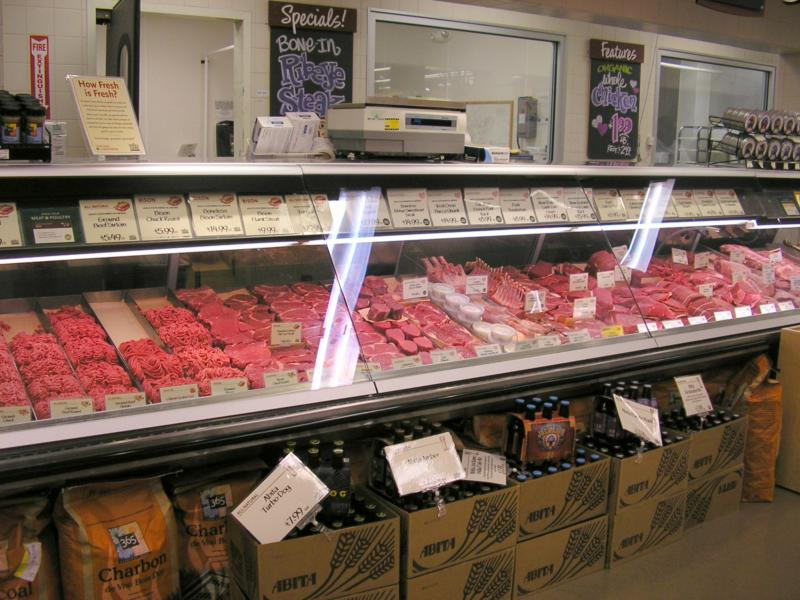 Whole Foods - meat counter organic fresh food