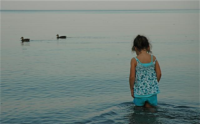 Karima at the beach in New Brunswick 2009