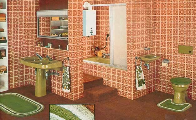 1000 images about 1970 39 s interior design on pinterest for 1970 bathroom decor
