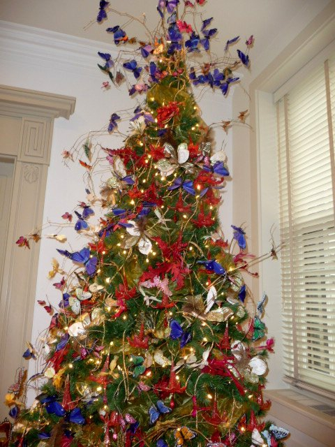 butterfly christmas tree yuletide at winterthur offers new perspectives on the past 1389