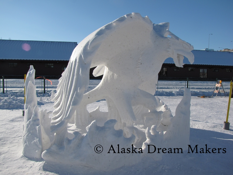 Fur Rondy 2011 Snow Sculpture