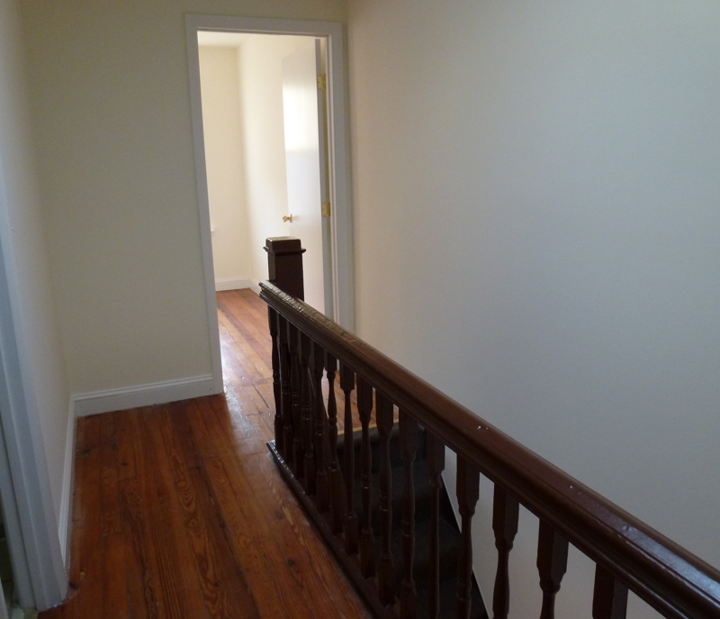 Wood floors upstairs hall HomeRome 410-530-2400
