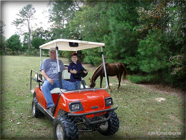 Ride Around The Farm, golf cart, Alabama, horse, fun, John mccormack, realtor, albuquerque homes realty