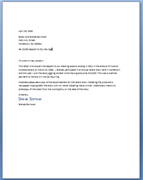 letter of explanation for large deposit mortgage loan hOMEZ7Eo