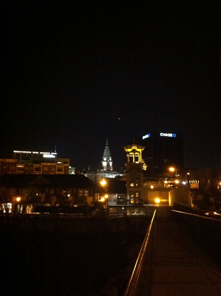 Lafayette Indiana Downtown at night